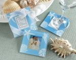 four seasons glass photo coasters summer