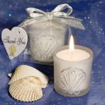 shell design candle favors