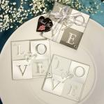 love shines through coaster set favors (set of 2)